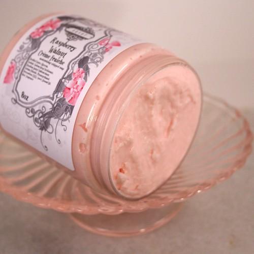Raspberry Walnut Creme Fraiche