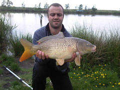 9lb Common caught by Jan on Moss Lake using Tip & Method Feeder, on 30th May 2008.