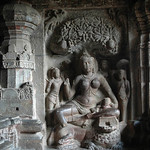 Ellora Cave Sculpture
