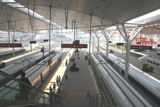 Platforms Beijing South Railway Station