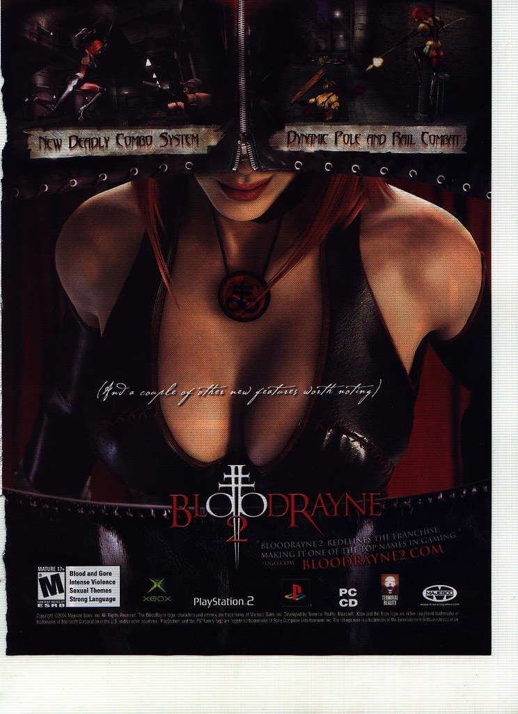 Ad - Bloodrayne 2 - Special Features - FHM January 2005