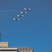 USAF Thunderbirds screaming across convention hall