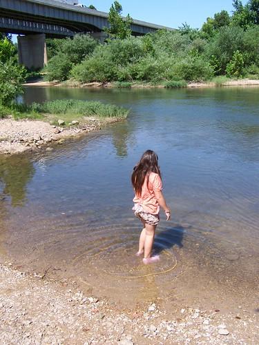 bridge water river niece aurora littlegirl osageforkriver publicfishingaccess hazelgreenpublicfishingaccess
