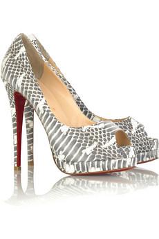 691a808ce54 Christian Louboutin Altadama watersnake shoe 1 by merly xox