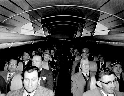 Bus passengers, 1952