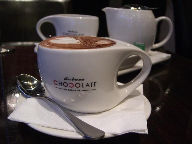 Belgian Hot Chocolate and Honeydew Green Tea - Theobroma C… | Flickr ...