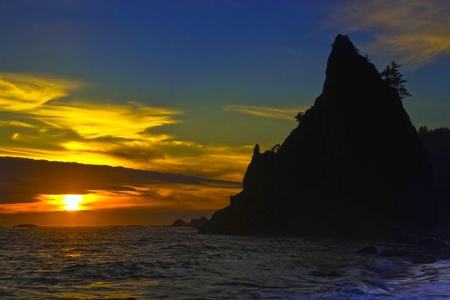 Sunset at Rialto Beach