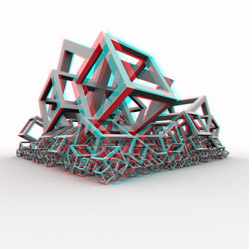 Escher's Collapse (Anaglyph)
