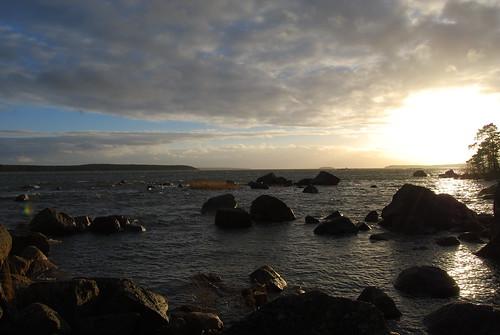 sunset sea summer kiviniemi