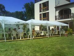 pergola(0.0), outdoor structure(1.0), canopy(1.0), property(1.0), pavilion(1.0), gazebo(1.0), tent(1.0),