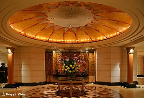 Entrance foyer of Four Seasons Hotel, Singapore.