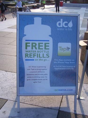 DC Water water bottle refill program