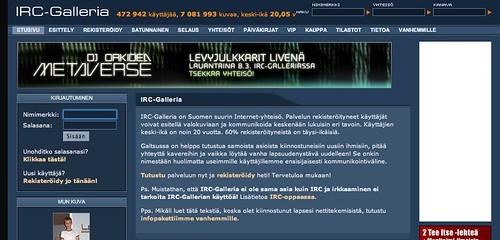 la web del IRC-Galleria y su logo