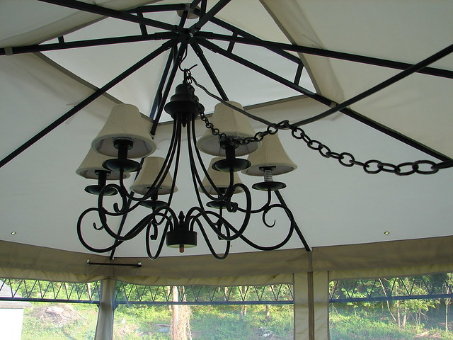 Gallery Of Outdoor Gazebo Chandelier Lighting