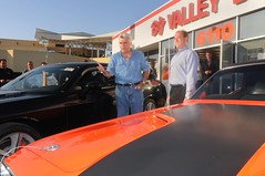 Jay Leno with his new Challenger