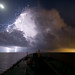 Lightning on Galveston Bay by OneEighteen