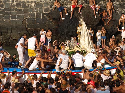 Virgen del Carmen fiesta in Puerto de la Cruz