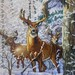 Woodland Winter - deer detail #2 by StitchingDreams