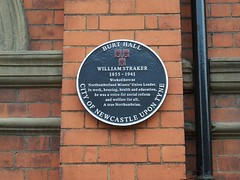 Photo of William Straker black plaque