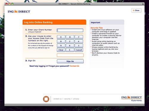 ing direct login online banking