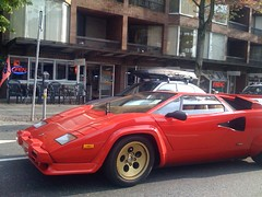 race car, automobile, lamborghini, vehicle, lamborghini countach, land vehicle, luxury vehicle, supercar, sports car,