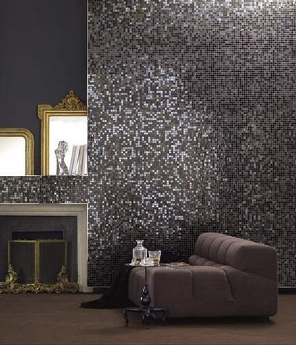 living room wall designed with bisazza mosaic tiles by bisazza