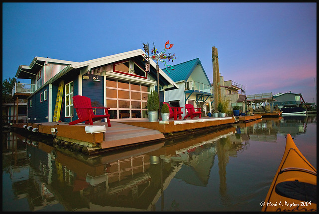 Floating house flickr photo sharing Portland floating homes