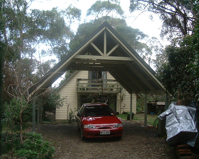Carport timber gable 29 pitched roof carport to match for Carport roof pitch