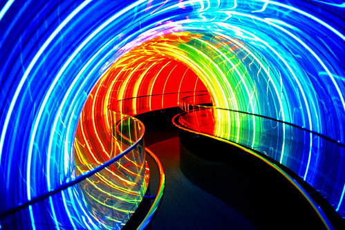Image Works Neon Tunnel, Disneyworld, FL by schaefinvegas