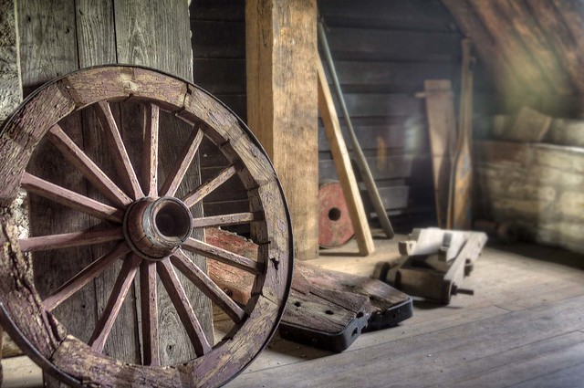 Wooden Wagon Wheels ~ Retired wooden wagon wheel flickr photo sharing