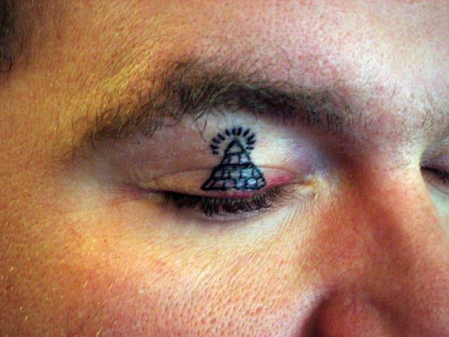 Bubba Got His Eyelid Tattooed - All Seeing Eye!