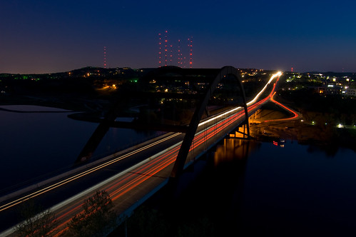 sunset night austin nikon texas ss 360 clear wp lighttrail 360bridge pennybacker d40 thechallengefactory