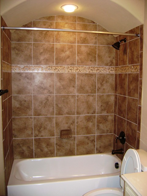 Custom tub surround ceramic tile tub surround with an - Cost to tile bathroom tub surround ...