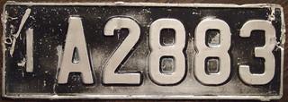AUSTRALIA, TASMANIA 1951 Passenger license plate