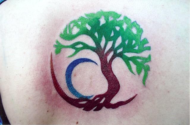 Circle tree tattoo flickr photo sharing for Circular symbols tattoos