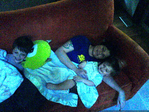 rachel needed an afternoon nap, so her boys decided to help   DSC01529