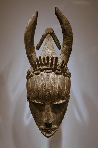 Mask, Urhobo peoples, Nigeria, Early to mid-20th century, Wood, pigment, encrustation