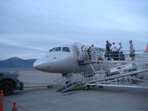 Boarding at the Missoula airport