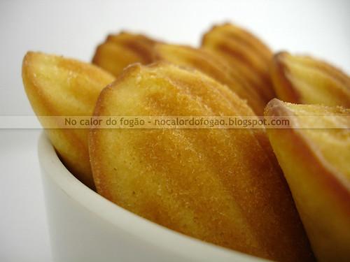 Madeleines de limão e mel