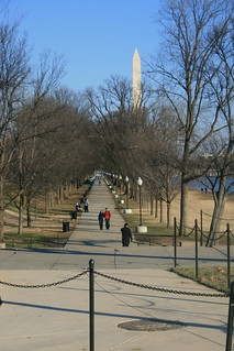 Walkway along the reflecting pool