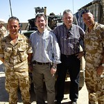 Peter Robinson and Jeffrey Donaldson in Afghanistan