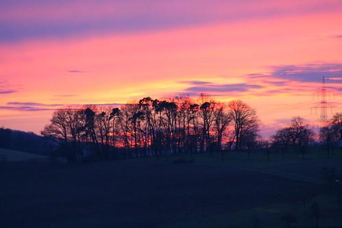sunset beautiful germany kandern riedlingen
