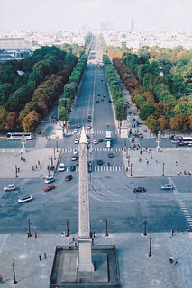 view from the big wheel, Jardin des Tuileries, Paris 2001