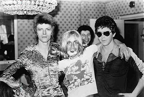 David Bowie, Iggy Pop, Lou Reed, Mick Ronson & Marc Bolan (Iggy T-Shirt)