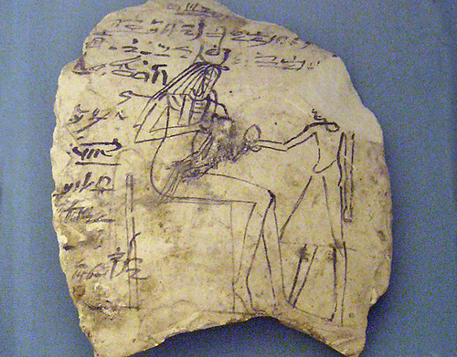 Ostracon depicting Renenutet