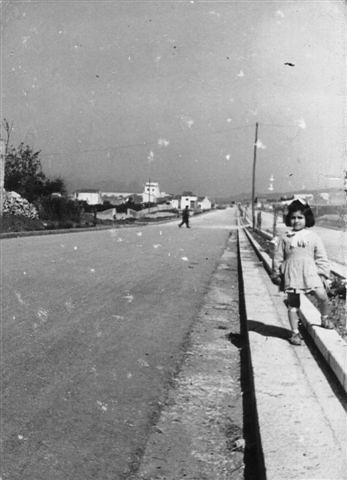 Alcamo - Il viale Europa negli anni cinquanta - 1957 o 1958