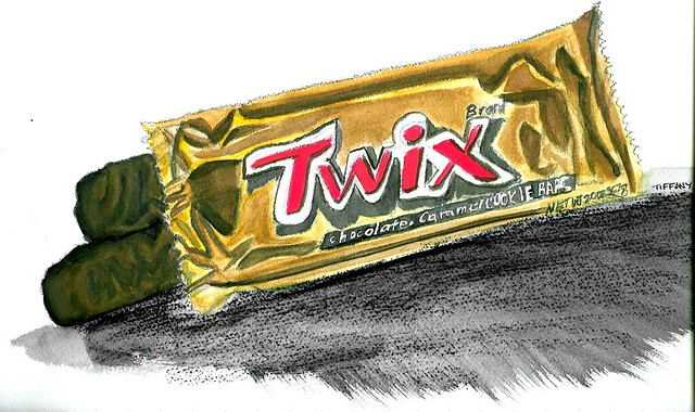 how to draw a twix bar