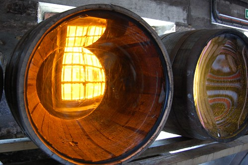 world reflected in a whisky barrel by brockvicky