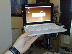 Acer Aspire One at hand