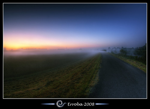 Misty Sunrise - Mechelen - Belgium :: Fisheye HDR